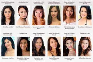 Miss Philippines Earth 2012 participants