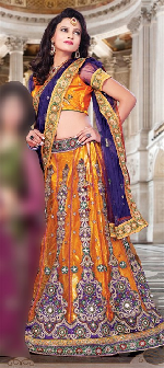 Orange color lehenga